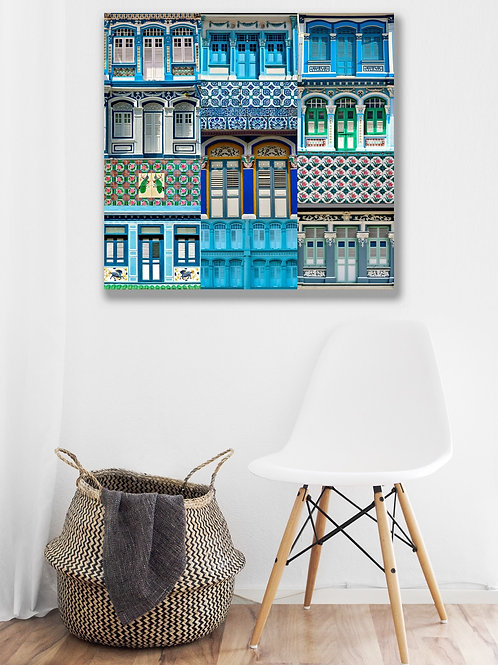 Epic Blue Shophouses Windows Collage