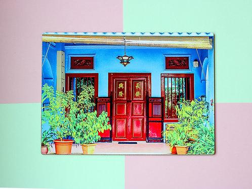 Blue Emerald Hill Door(Single Placemat)