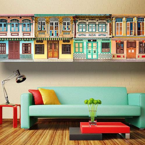 Vintage Shophouses Collage