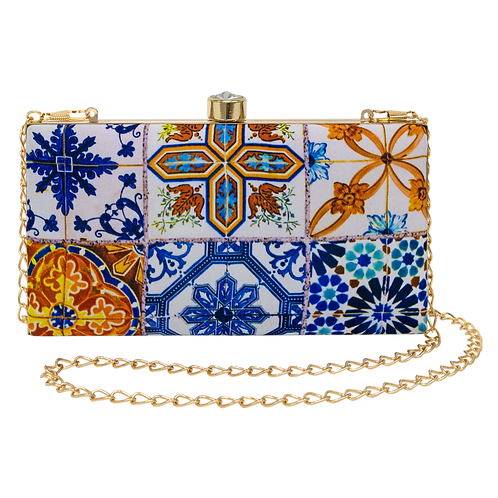 The Chinatown Blue Rectangular Clutch