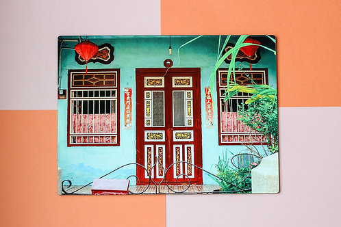 Teal Emerald Hill Door Placemat(Single Placemat)