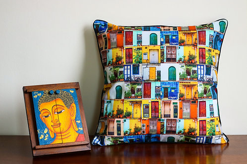 Back Doors of Singapore Cushion Cover