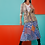 Thumbnail: Ink Blue Peranakan Tiles Pleated Skirt