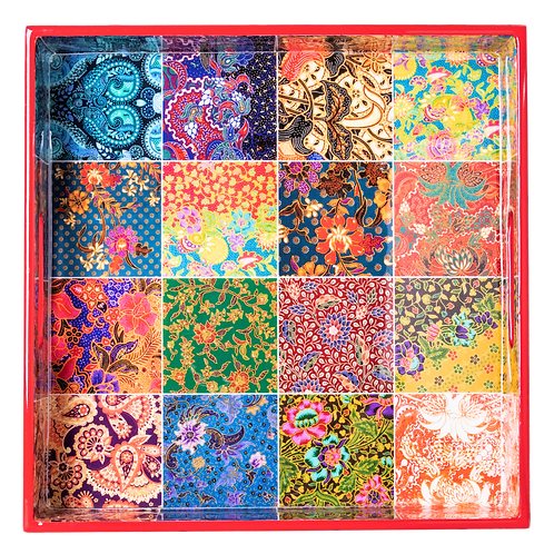 Batik Shiok Collection Square Tray