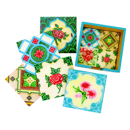 The Peranakan Ohng Collection (Set of 6 Coasters )