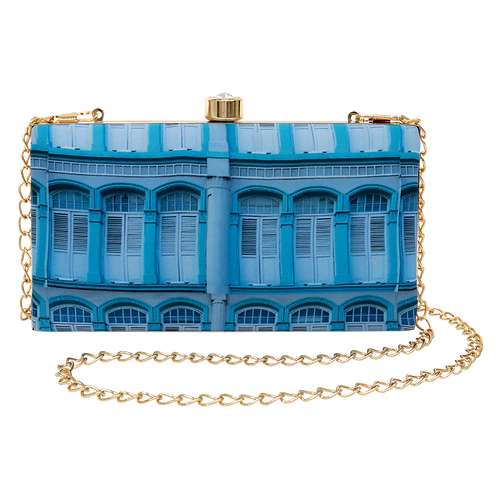 Blue Straits Peranakan Clutch Bag