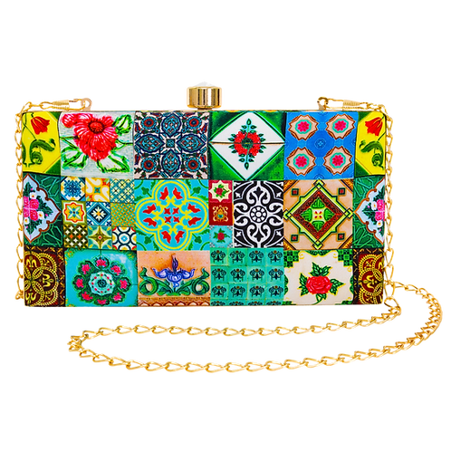 Peranakan Tiles Rectangular Clutch