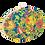 Thumbnail: Batik Clutch Bag- Siam Blue and Ruby