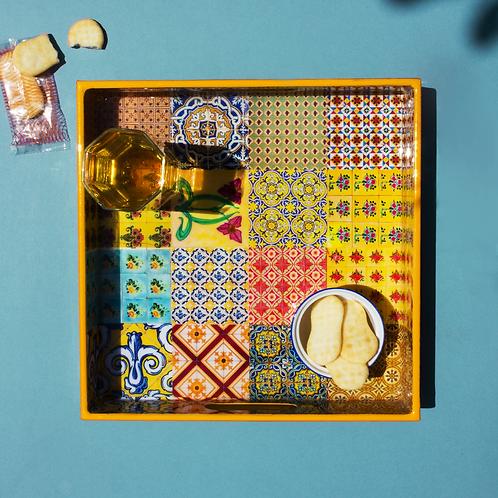 Stained Yellow Peranakan Tray