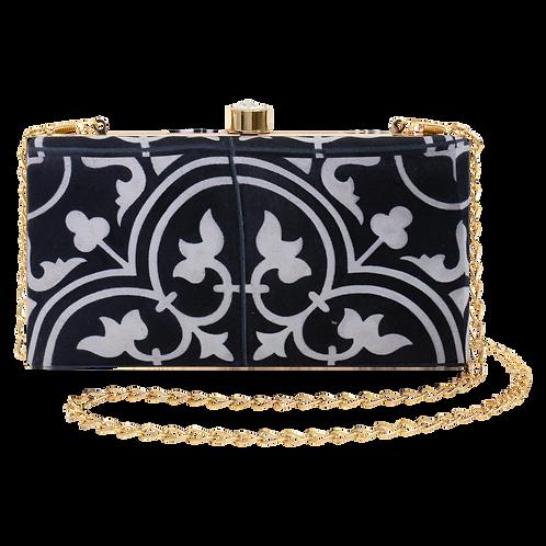 Black & White Nyonya Clutch Bag