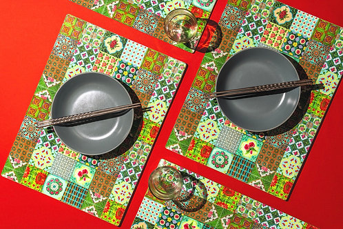 Go Green Peranakan Placemats (Set of 6)