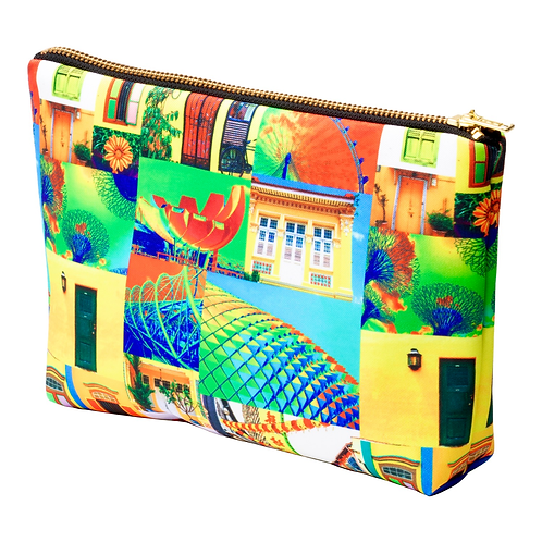 Singapore Pop-Up Art Print Pouch