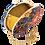 Thumbnail: Batik Clutch Bag- Prussian Blue and Amber
