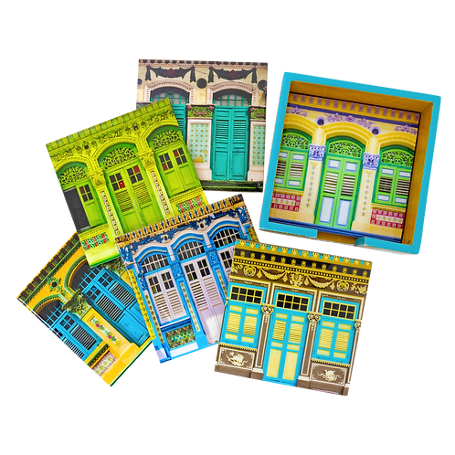 The Iconic Shophouses Collection (Set of 6 Coasters)