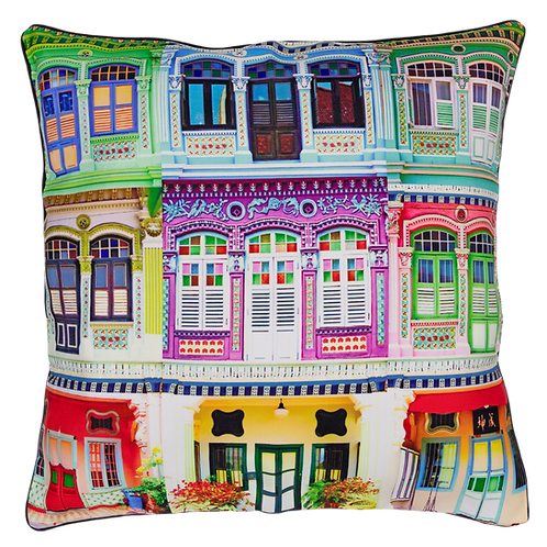 Rowhouses Design Cushion Cover