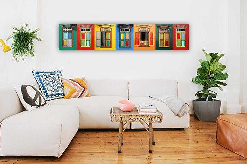 Row of Little India Windows