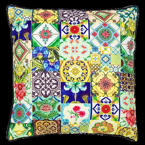 Joo Chiat Peranakan Tiles Design Cushion Cover