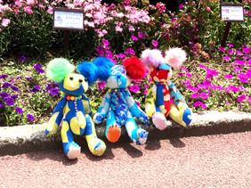 京都府立植物園で休憩中