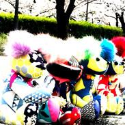 大阪城公園で記念写真