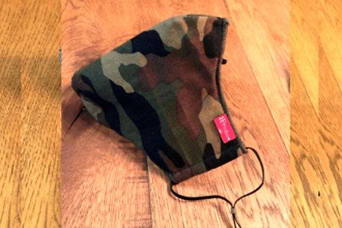 綿mask  camouflage khaki