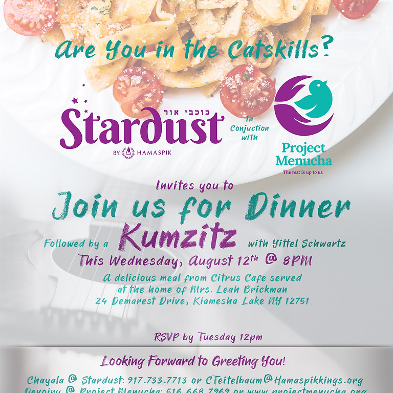 Join us for Dinner and Kumzitz!