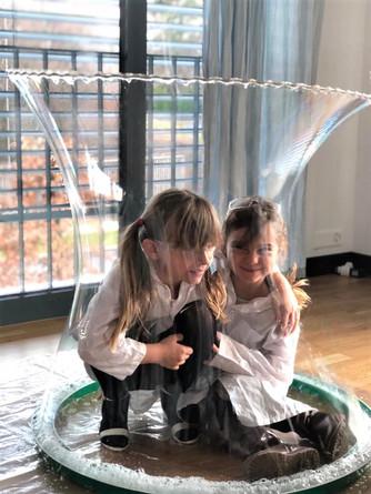 Kid-in-a-bubble!