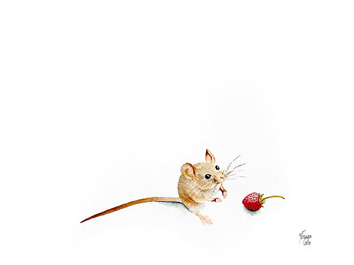 Mouse and Strawberry
