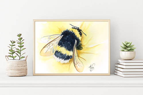 Bumblebee on Yellow
