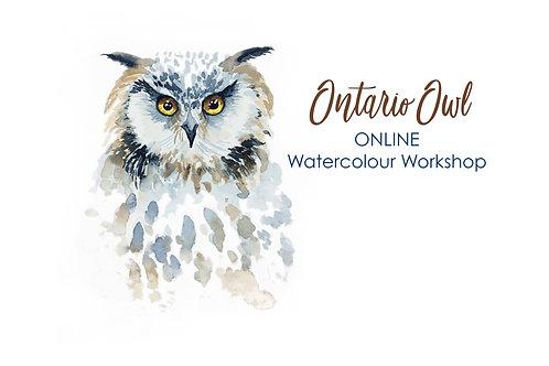 Ontario Owl - Online Watercolour Workshop