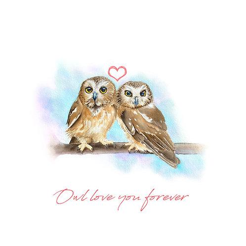 Love Owls - Inscribed