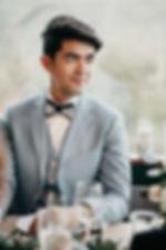 costume marié bleu tendance