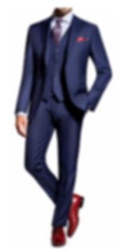 Costume bleu roi trois pièces By Monsieur