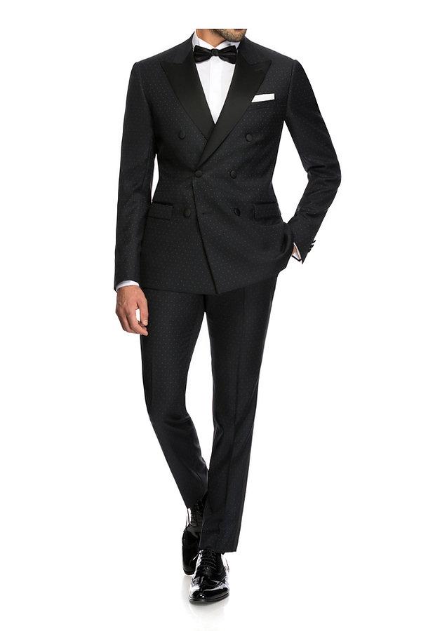 Costume de marié noir à motifs By Monsieur