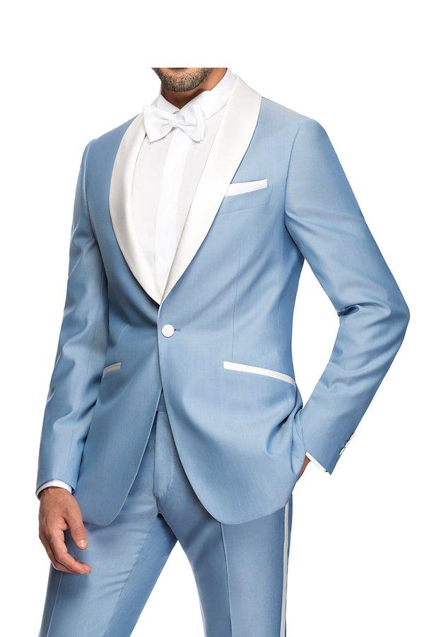 Costume de marié bleu ciel By Monsieur