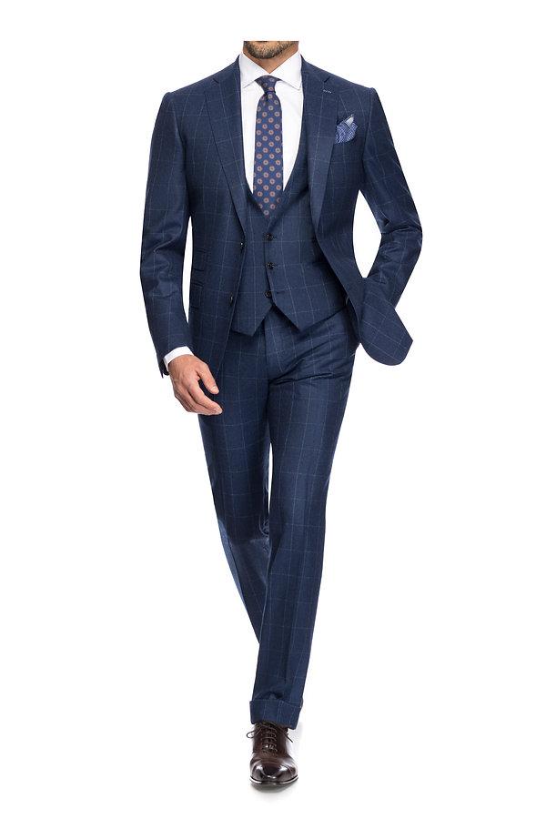 Costume de marié bleu à carreaux By Monsieur