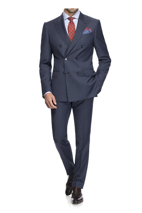 Veste croisée bleue et cravate rouge By Monsieur