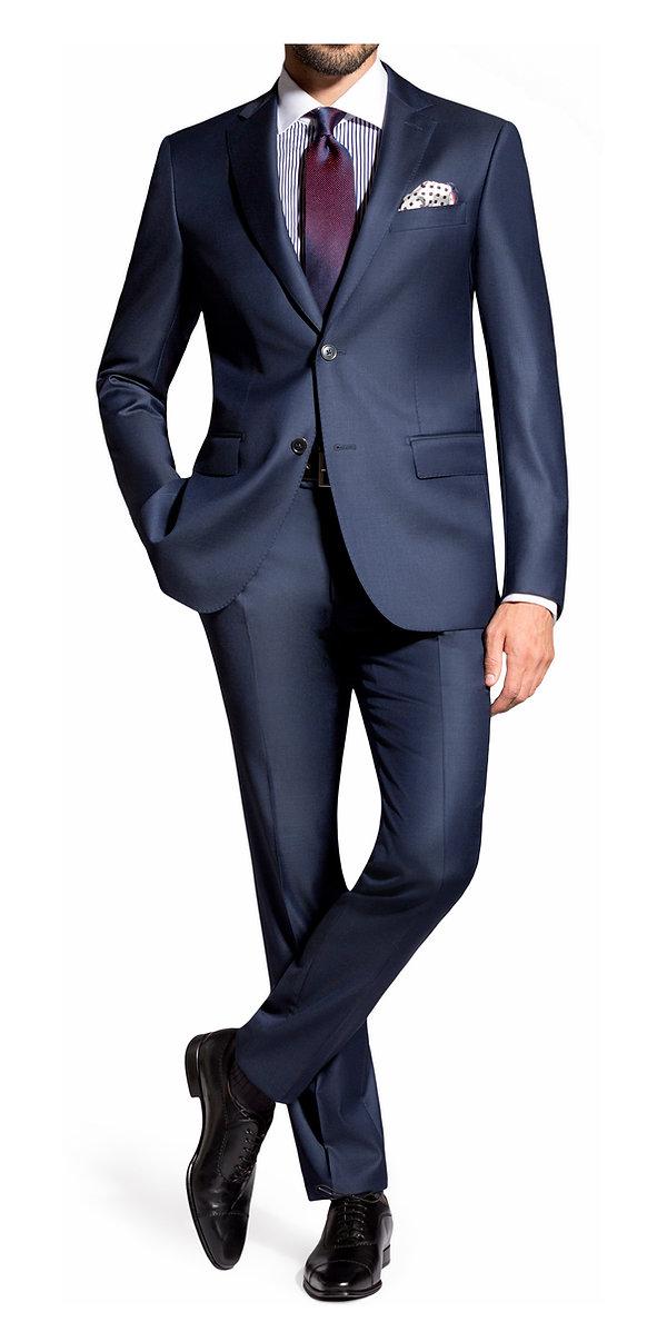 Costume bleu cravate bordeaux By Monsieur