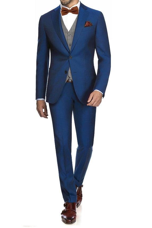 Costume bleu roi bymonsieur