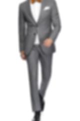 Costume deux pièces gris à carreaux et cravate à rayures By Monsieur