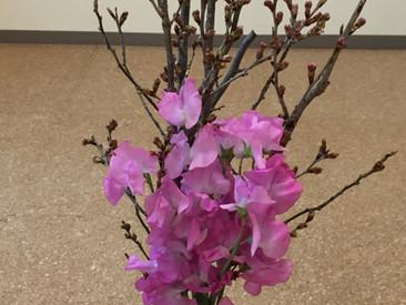 待合室に 「 桜 」