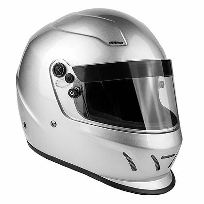 Typhoon Helmet - Snell Approved - Silver