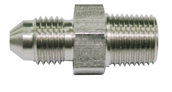 """1/8"""" BSP to -4AN Straight Stainless Steel (Malpassi) AF384-04"""