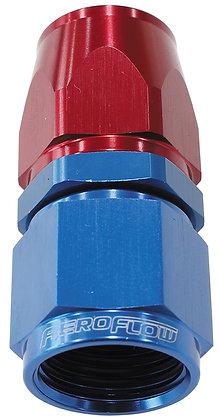 AF201-6D Alloy Straight Hose End -6AN Blue