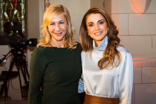 Tania & Her Majesty Queen Rania Al Abdullah of Jordan (video)