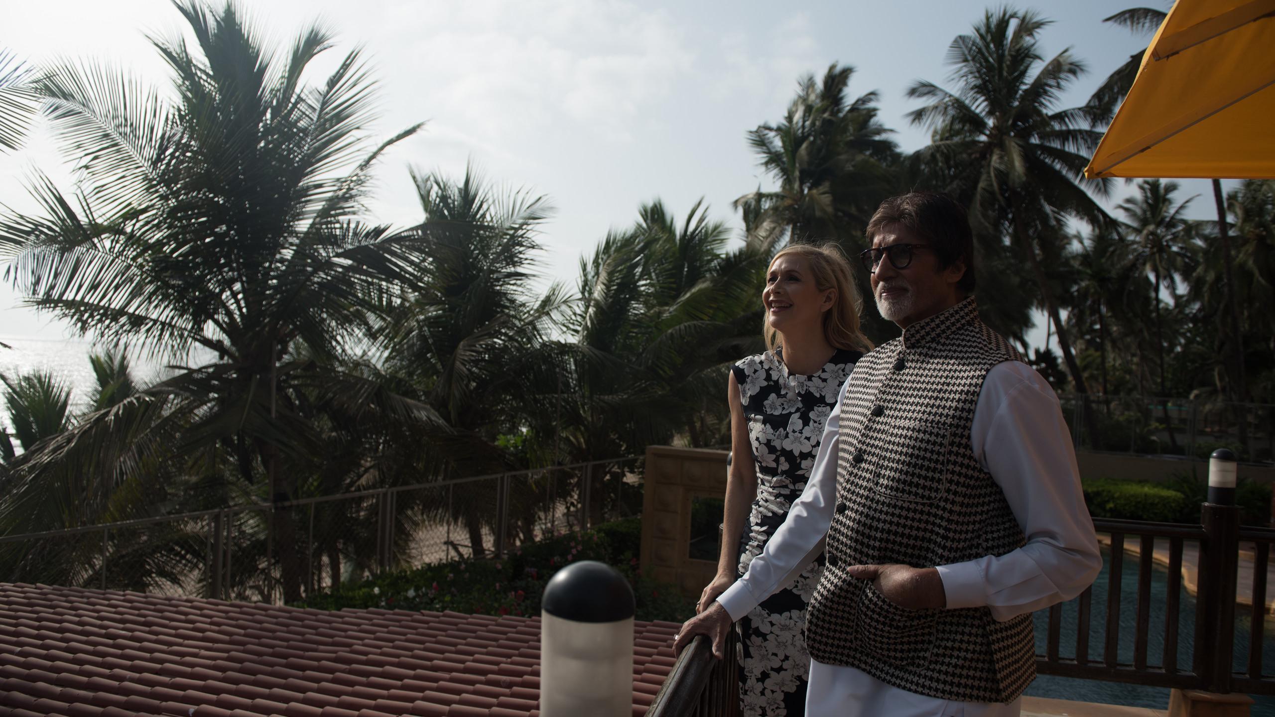 with Amitabh Bachchan in Mumbai