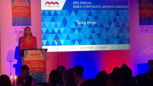 Tania: M.C. at The M&A Advisor Awards