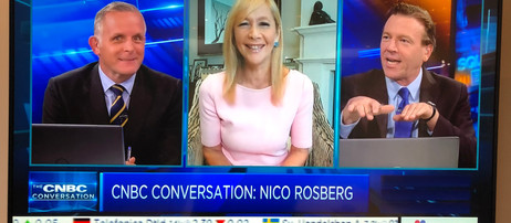Tania on Squawk Box talking Greentech and F1 with Nico Rosberg