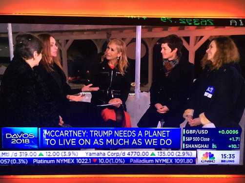 Davos 2018: Tania, Stella McCartney & Ellen MacArthur talk transforming the economy, #MeToo &amp