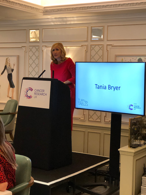 Tania hosts Turn The Tables for Cancer Research UK