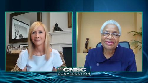 Premieres tonight: The CNBC Conversation - Graça Machel